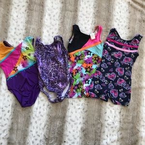 Bundle of 4 Kids XS (4/5) Gymnastics Leotards